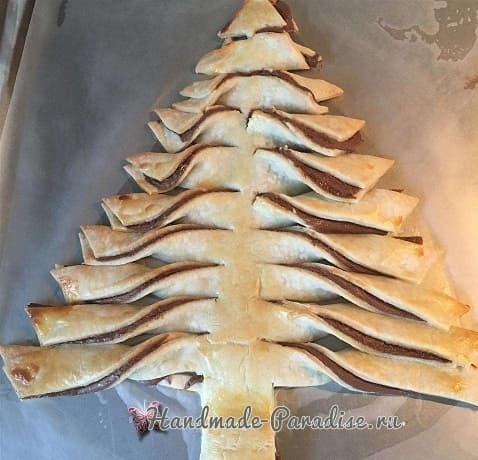 Новогодняя елка из слоеного теста (3)