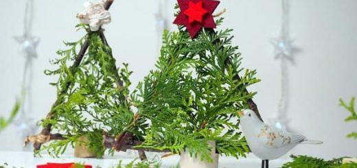 Новогодняя елочка в экостиле из палочек (1)