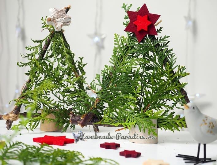 Новогодняя елочка в экостиле из палочек (3)