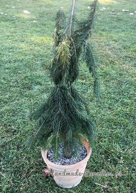 Новогодняя елка своими руками из хвойных веток (2)