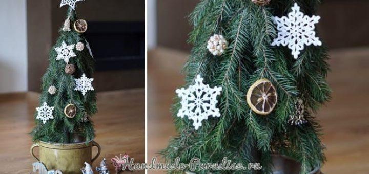 Новогодняя елка своими руками из хвойных веток (5)