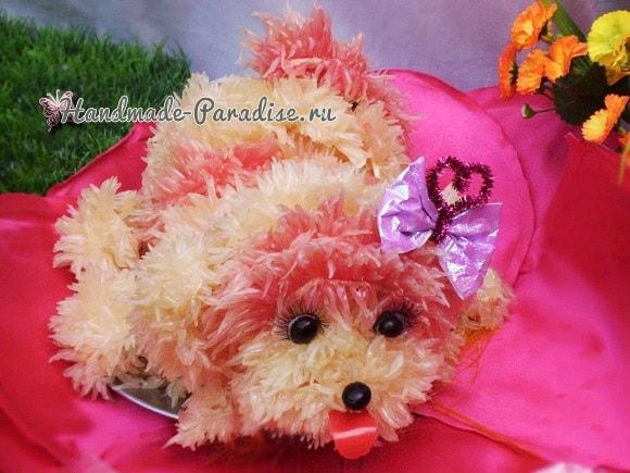 Новогодняя собачка из грейпфрута (5)