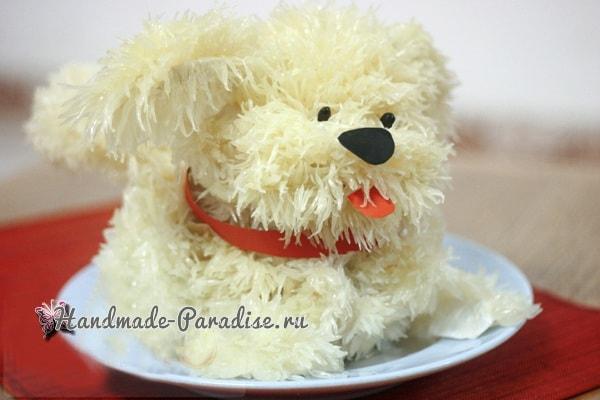 Новогодняя собачка из грейпфрута (6)
