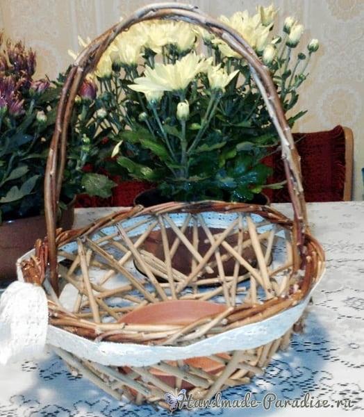 Плетение корзинки из виноградной лозы (2)