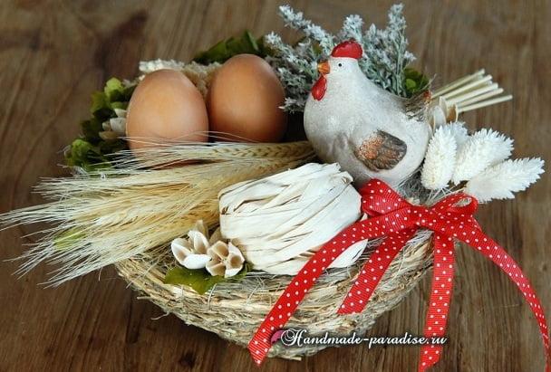 Плетение корзинки из виноградной лозы (6)