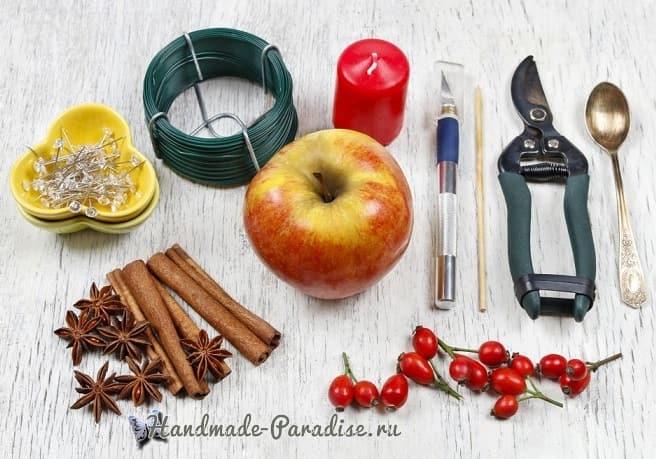 Рождественские свечи с яблочными подсвечниками (10)