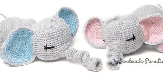 Вязание крючком игрушки - слоника-сплюшки (4)