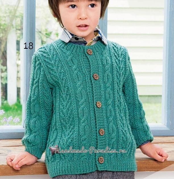 Жакет спицами для мальчика. Схемы вязания (1)