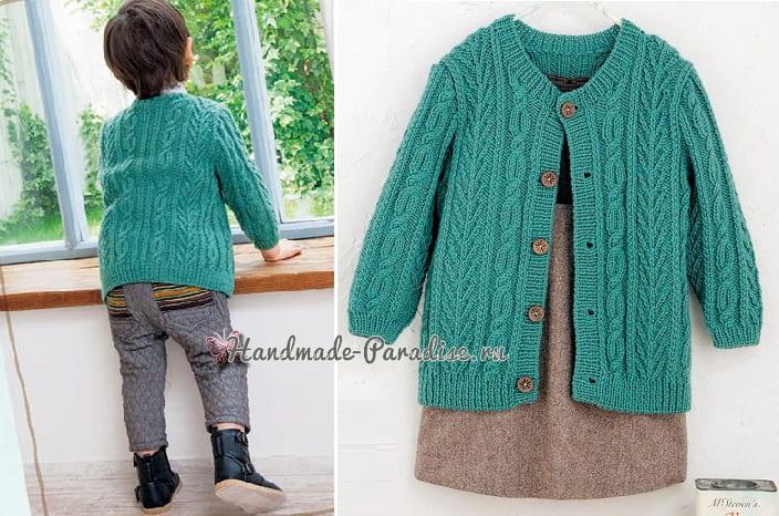 Жакет спицами для мальчика. Схемы вязания (2)