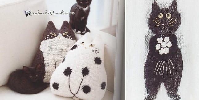 Жаккард с кошками от Matsuda Kyoko