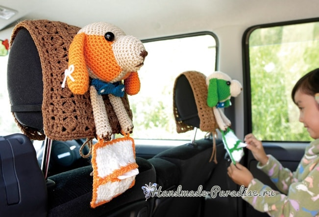 Собачка крючком - подголовник для сиденья автомобиля (6)