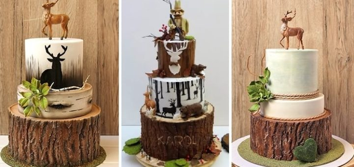 Эффект коры дерева из сахарной мастики для торта