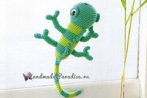 Хамелеон крючком. Схемы вязания амигуруми (1)