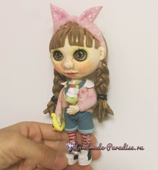 Куколка Блайз своими руками из полимерной глины (1)