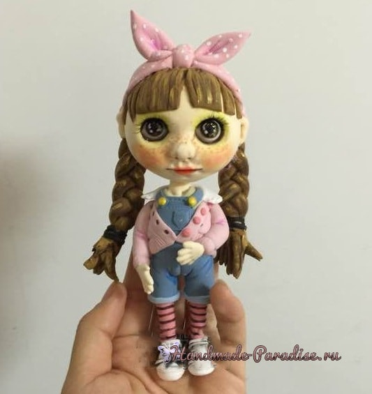 Куколка Блайз своими руками из полимерной глины (2)