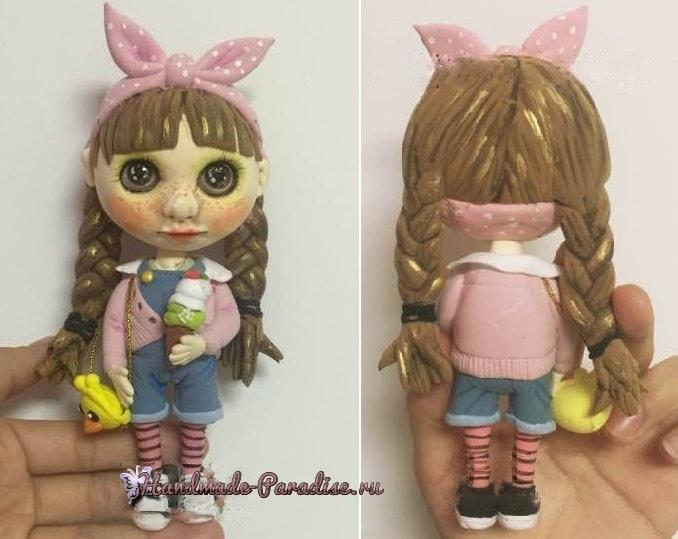 Куколка Блайз своими руками из полимерной глины (4)