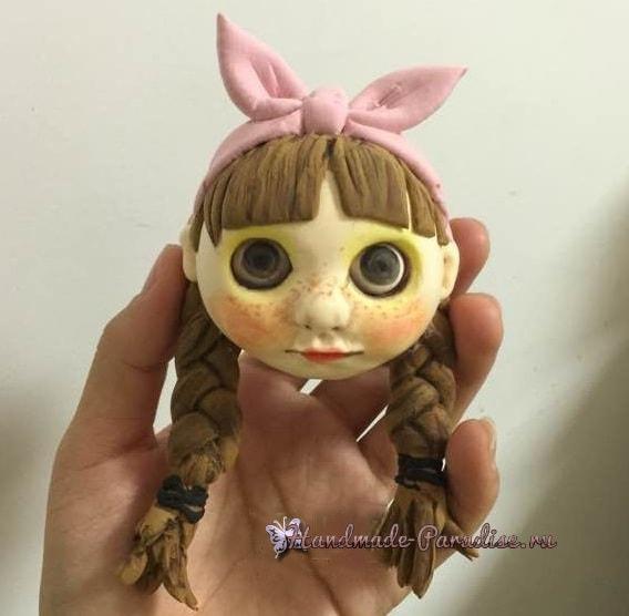 Куколка Блайз своими руками из полимерной глины (5)