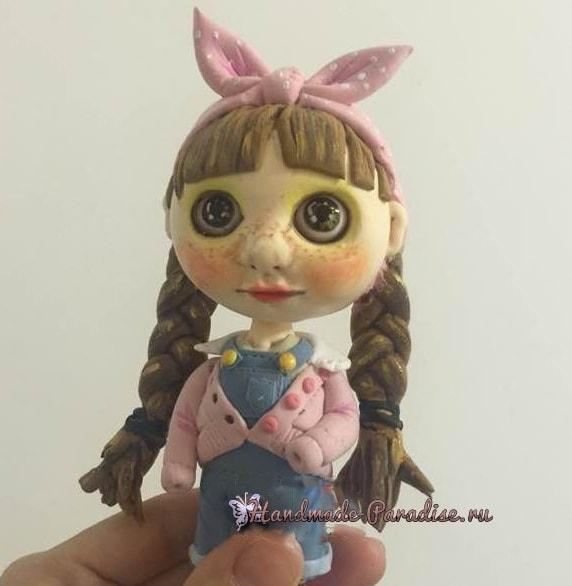 Куколка Блайз своими руками из полимерной глины (7)