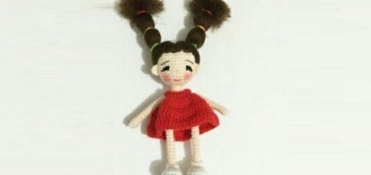 Куколка амигуруми с длинными волосами (1)