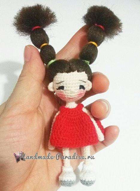 Куколка амигуруми с длинными волосами (5)