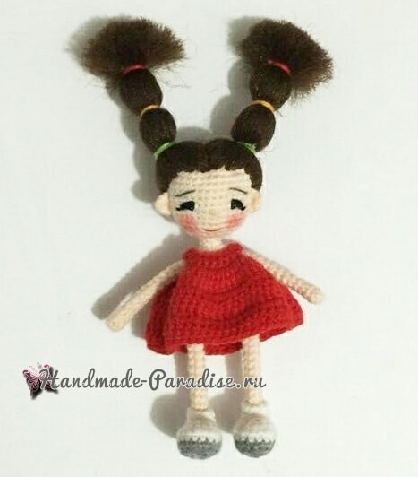 Куколка амигуруми с длинными волосами (6)
