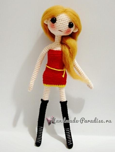 Куколка-модница амигуруми. Описание вязания (1)