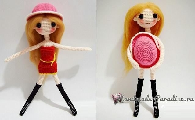 Куколка-модница амигуруми. Описание вязания (4)
