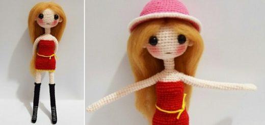 Куколка-модница амигуруми. Описание вязания (5)