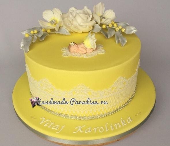 Лепка младенца для детского торта (1)