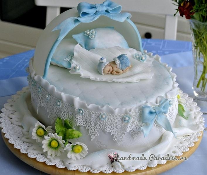 Детский торт с младенцем
