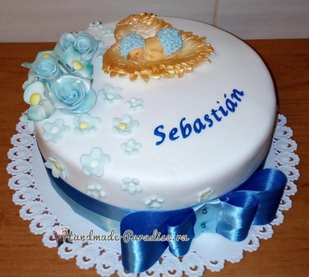Лепка младенца для детского торта (10)