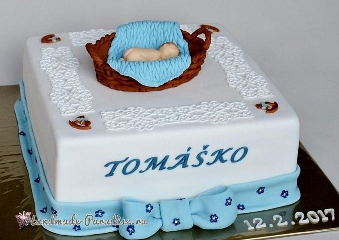 Лепка младенца для детского торта (11)