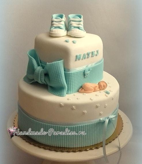 Лепка младенца для детского торта (12)