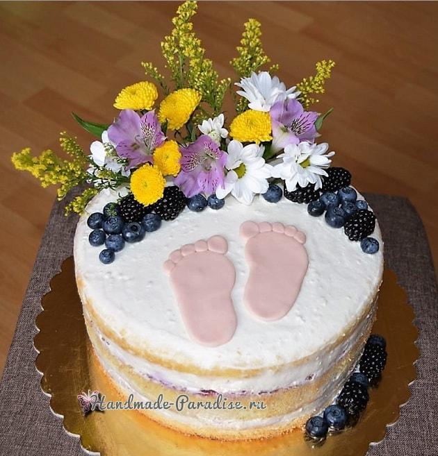 Лепка младенца для детского торта (13)