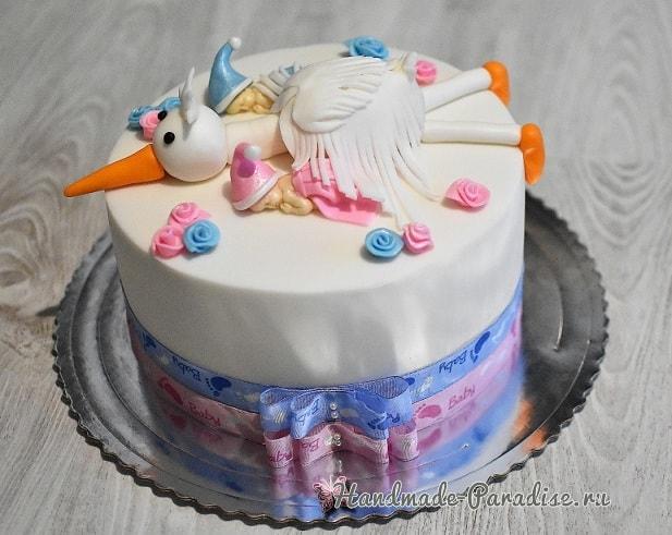 Лепка младенца для детского торта (2)