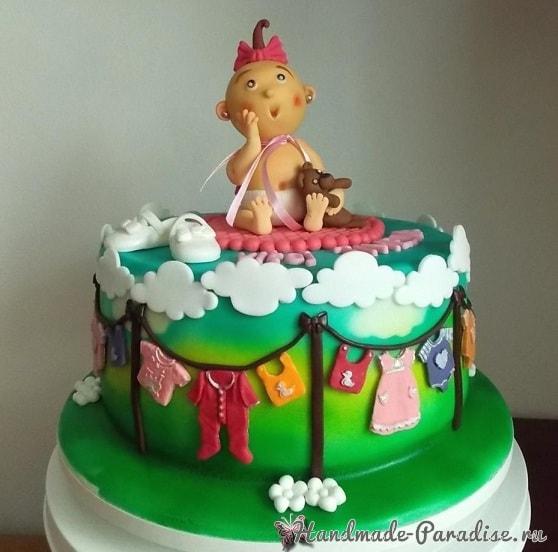 Лепка младенца для детского торта (3)