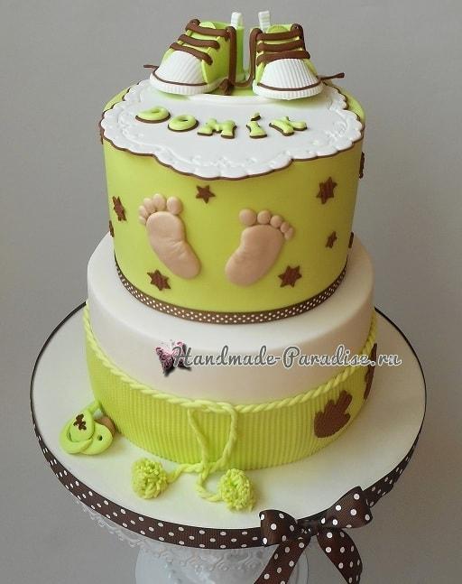 Лепка младенца для детского торта (5)