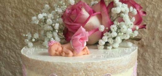 Лепка младенца для детского торта (6)