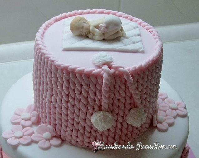 Лепка младенца для детского торта (7)