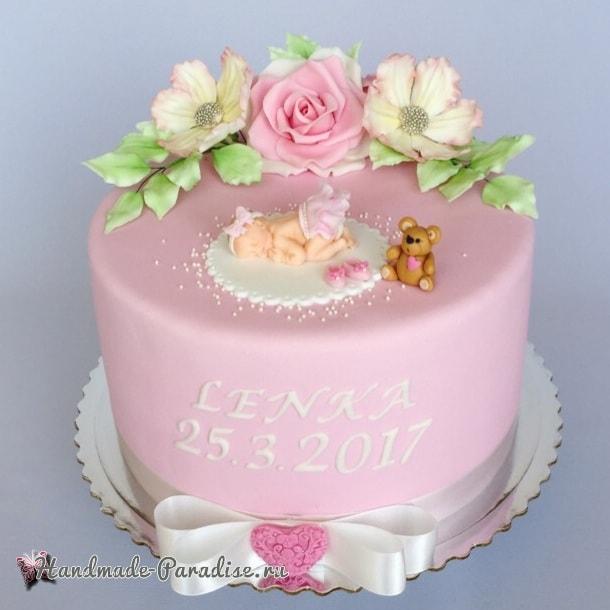 Лепка младенца для детского торта (8)