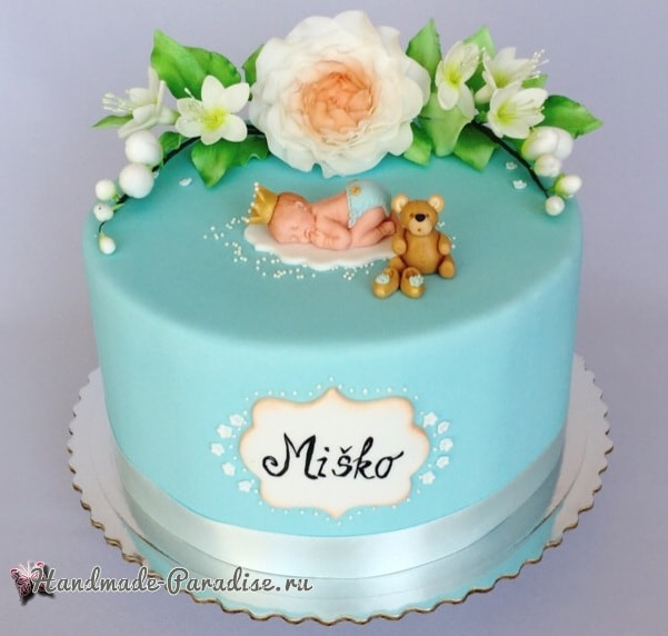 Лепка младенца для детского торта (9)