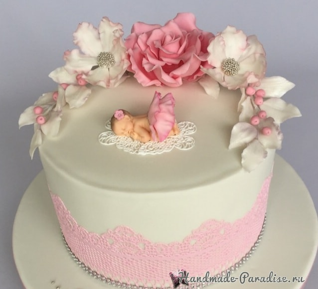 Лепка младенца для детского торта