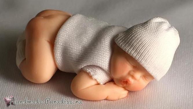 Младенец из полимерной глины