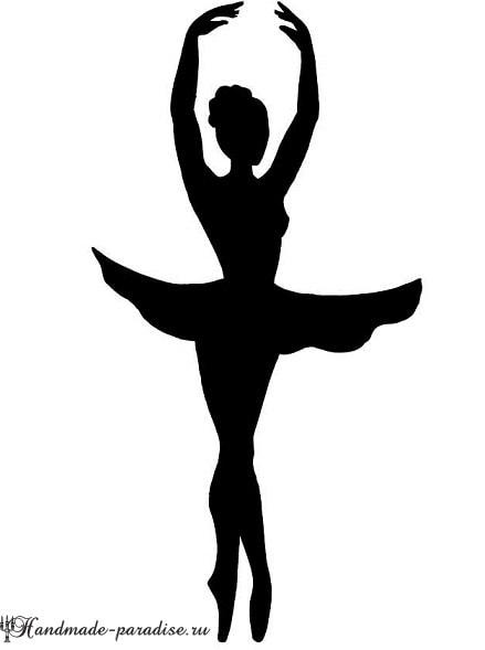 Панно handmade с силуэтом балерины (10)
