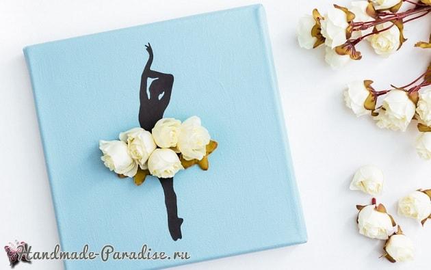 Панно handmade с силуэтом балерины (12)