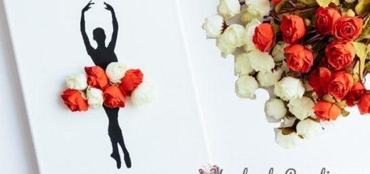 Панно handmade с силуэтом балерины (13)