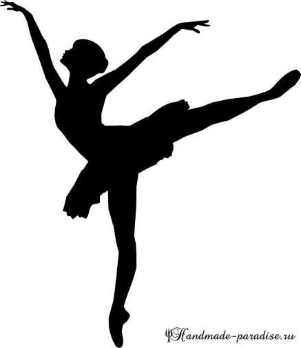 Панно handmade с силуэтом балерины (15)