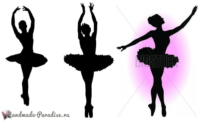 Панно handmade с силуэтом балерины (2)