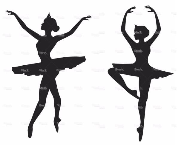 Панно handmade с силуэтом балерины (3)
