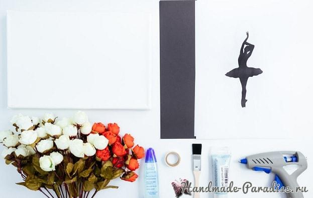 Панно handmade с силуэтом балерины (6)